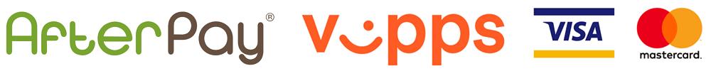 Afterpay Vipps Visa Mastercard