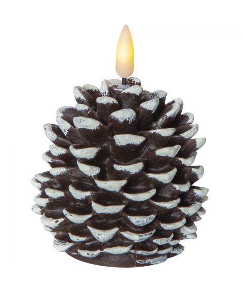 Flamme Kongle, høyde 13 cm, for batteri, med timer