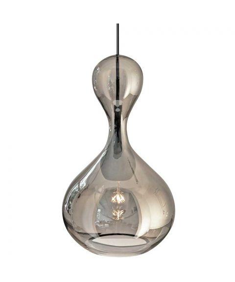 Blubb takpendel med 3 meter ledning, diameter 22 cm, Krom glass