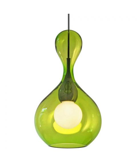 Blubb takpendel med 3 meter ledning, diameter 22 cm, Grønt glass