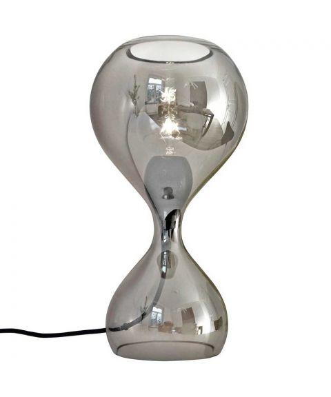 Blubb bordlampe med ledningsdimmer, høyde 42 cm, Krom glass