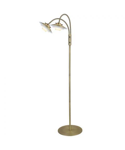 1123 gulvlampe 2, diameter 13 cm, høyde 129 cm