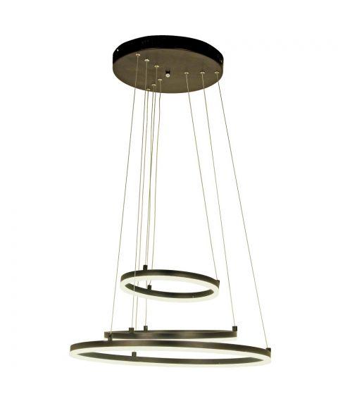 Circles takpendel, diameter 58 cm, dimbar 52W LED 3000K, Sort