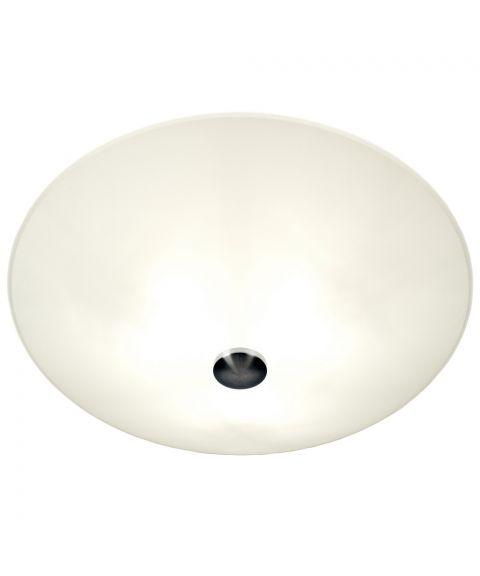 Iglo plafond, diameter 50 cm, Hvit / Stål