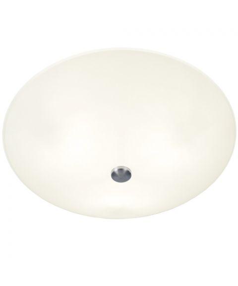 Iglo plafond, diameter 42 cm, Hvit / Stål