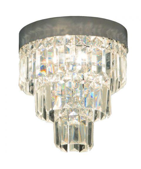 Belissa taklampe med glassprismer, diameter 25 cm