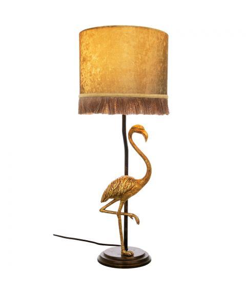 Flamingo bordlampe, høyde 67 cm, Sortgull / Gull