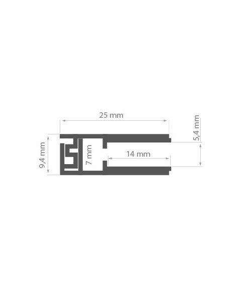 Aluminiumsprofil Krav 56, anodisert, metervare, Aluminium