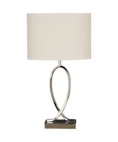 Posh bordlampe, Krom / Hvit