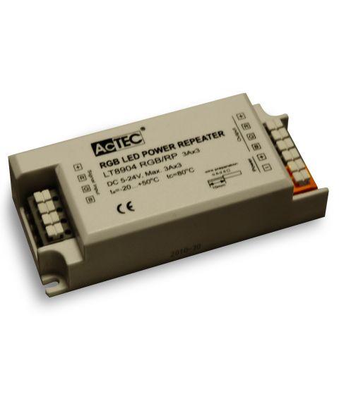 LED signalforsterker, RGB 5-24V DC Max. 3x3A AcTEC