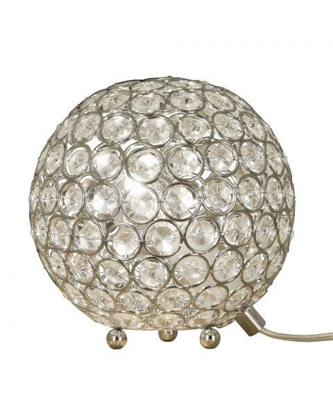Bling bordlampe, diameter 15 cm, Krom