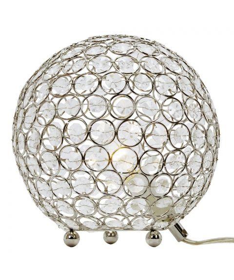 Bling bordlampe, diameter 20 cm, Krom