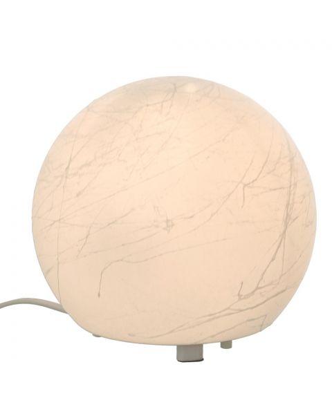 Moon bordlampe, diameter 20 cm, Hvit