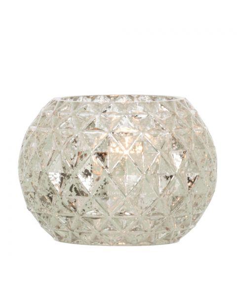 Fiona bordlampe, høyde 11 cm, Sølv