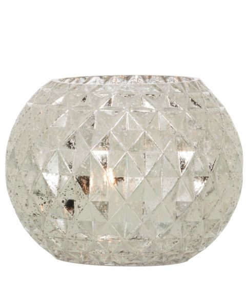 Fiona bordlampe, høyde 16 cm, Sølv