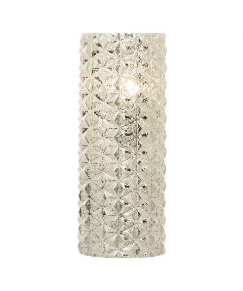 Fatima bordlampe, høyde 30 cm, Sølv