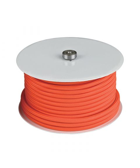 Stofftrukket ledning, 25 meter, Oransje