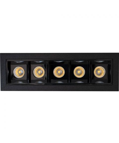 Frio 5 downlight, lengde 14 cm, 10W LED 3000K 524lm, dimbar