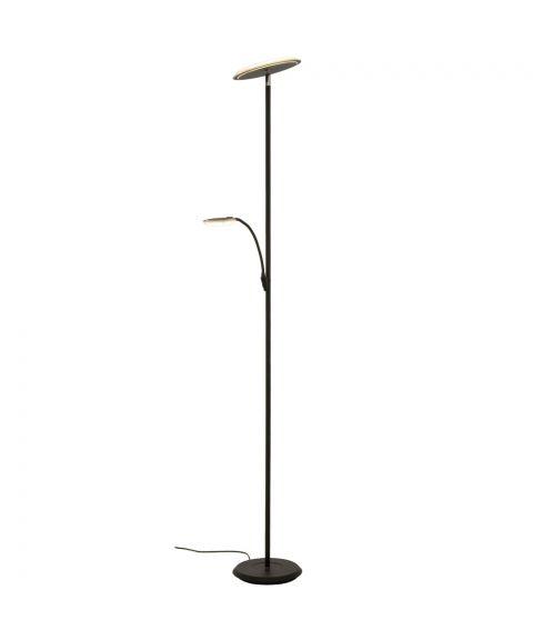 Stockholm uplight gulvlampe, høyde 184 cm, Sort