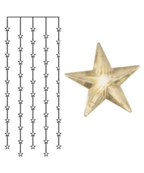 Stjernegardin 90x200 cm, LED (x50), Varmhvit 3000K
