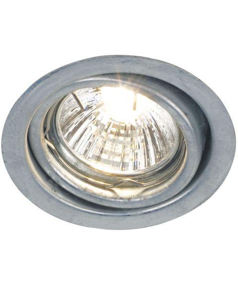 Tip downlight for GU10, 35° tilt, Galvanisert