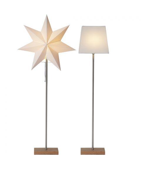 Moa stjerne + skjerm på fot 82 cm E14, Eik