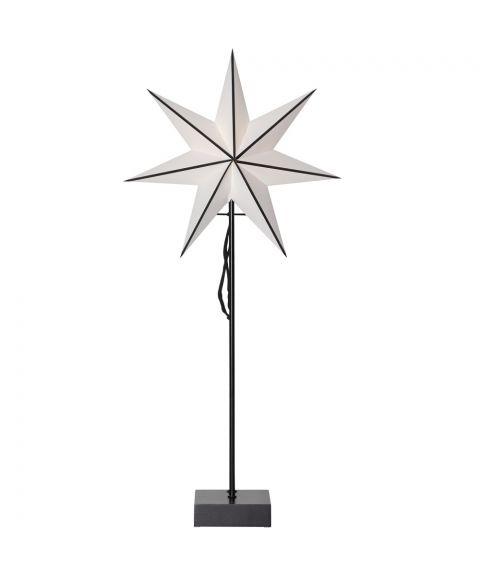 Astro stjerne på fot for batteri, høyde 74 cm, LED, Sort
