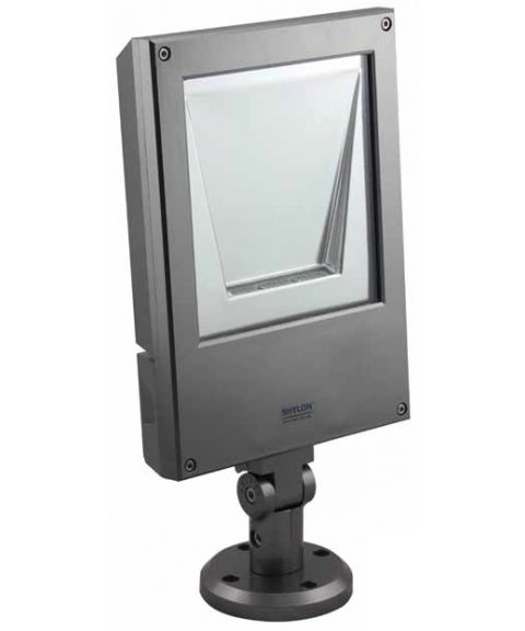 Ottawa lyskaster 60W LED, 120° lysspredning, Sølvgrå
