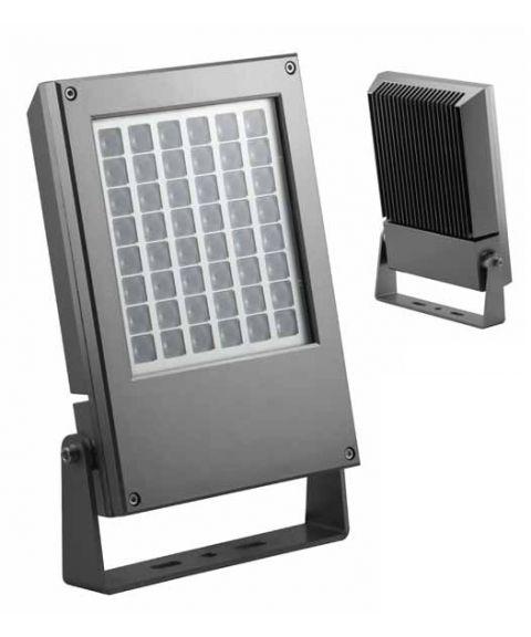 Ottawa lyskaster 60W LED, Sølvgrå