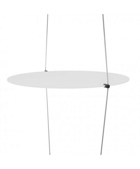 Coassiale taklampe, 20W LED, høyde 250 cm, Sort