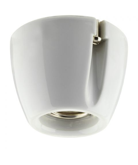 Basic sokkellampe, rett modell for tak/vegg, diameter 7 cm