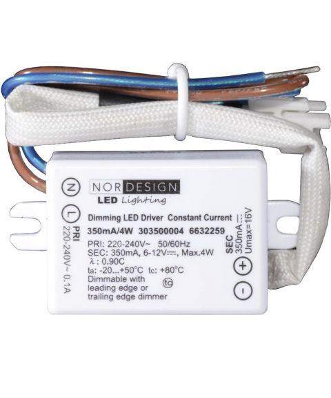 LED driver 350mA 4W (6-12V) NorDesign, dimbar