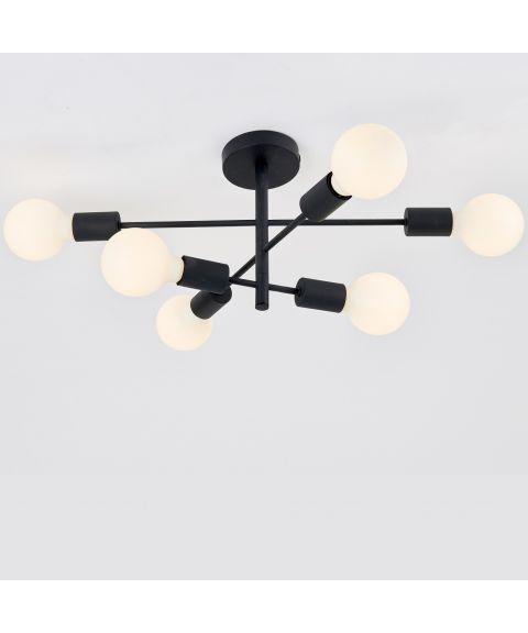 Cross taklampe 6 x E27, Sort