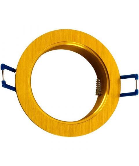 [2] Rund downlightramme for Nebraska og Utah lyskilde, hulldiameter 8,2 cm, Gull