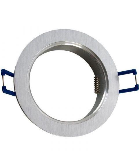 [2] Rund downlightramme for Nebraska og Utah lyskilde, hulldiameter 8,2 cm, Aluminium