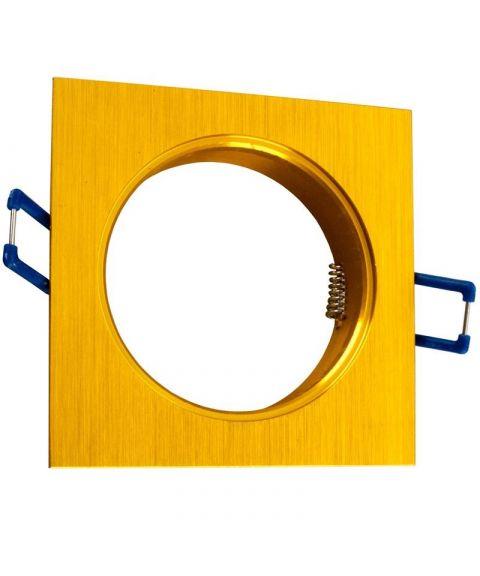 [2] Firkantet downlightramme for Nebraska og Utah lyskilde, hulldiameter 8,2 cm, Hvit