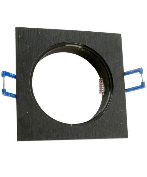 [2] Firkantet downlightramme for Nebraska og Utah lyskilde, hulldiameter 8,2 cm, Sort