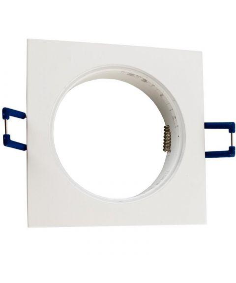 [2] Firkantet downlightramme for Nebraska og Utah lyskilde, hulldiameter 8,2 cm, Beige