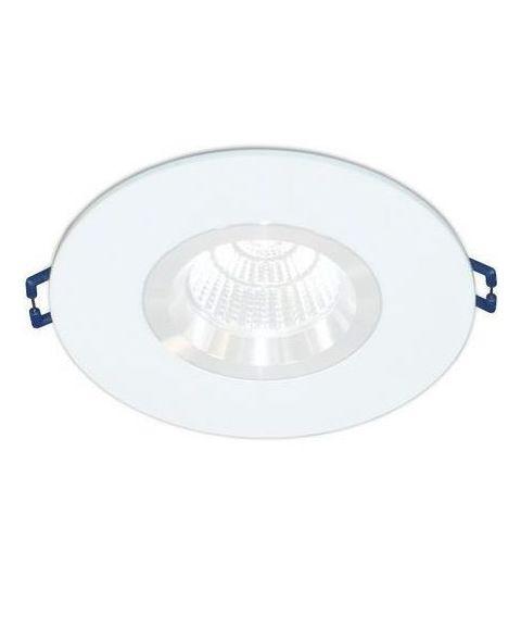 [2] Rund downlightramme for Nebraska og Utah lyskilde, hulldiameter 8,3 - 11,5 cm, Hvit