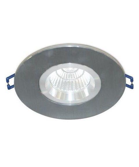 [2] Rund downlightramme for Nebraska og Utah lyskilde, hulldiameter 8,3 - 11,5 cm, Aluminium