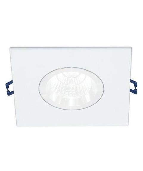 [2] Firkantet downlightramme for Nebraska og Utah lyskilde, hulldiameter 8,3 - 11,5 cm, Hvit