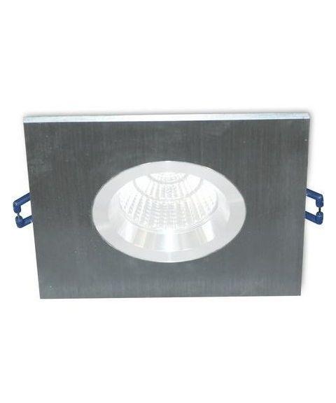 [2] Firkantet downlightramme for Nebraska og Utah lyskilde, hulldiameter 8,3 - 11,5 cm, Aluminium
