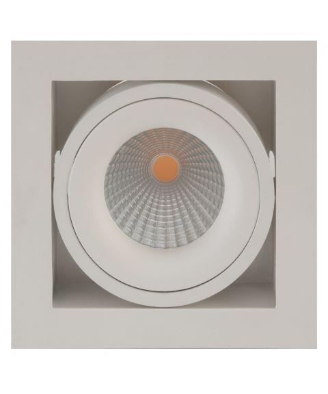 Dakota downlight, 30° tilt, 7W LED, dimbar