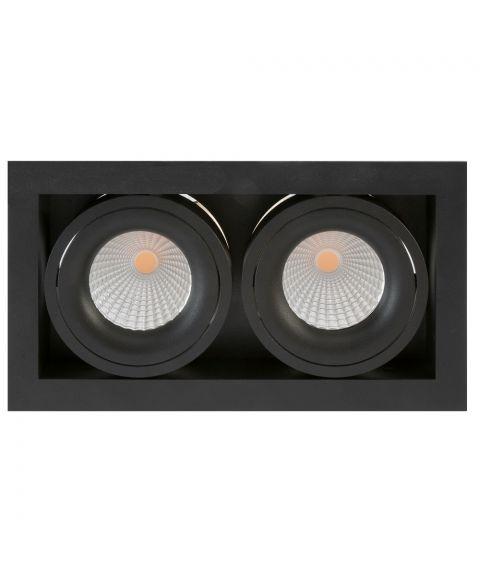 Dakota duo downlight, 30° tilt, 2x7W LED, Dimbar