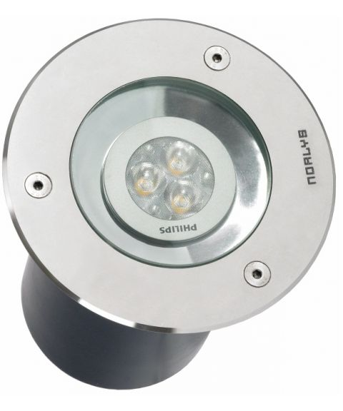 Rena 1550 nedfelt, diameter 13 cm, 10° tilt, inkl LED-pære, Syrefast stål