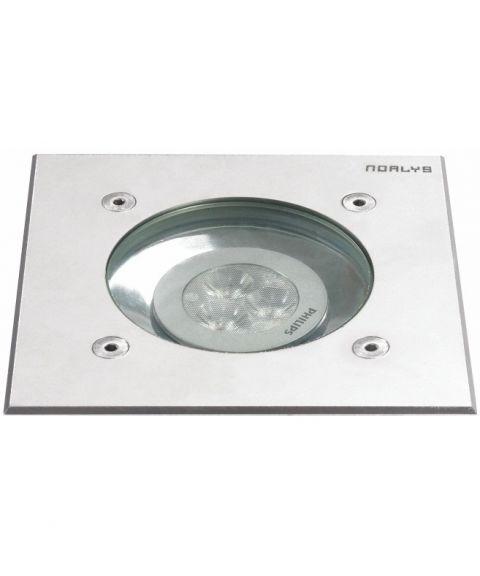 Rena 1551 nedfelt, 13 x 13 cm, inkl LED-pære, Syrefast stål