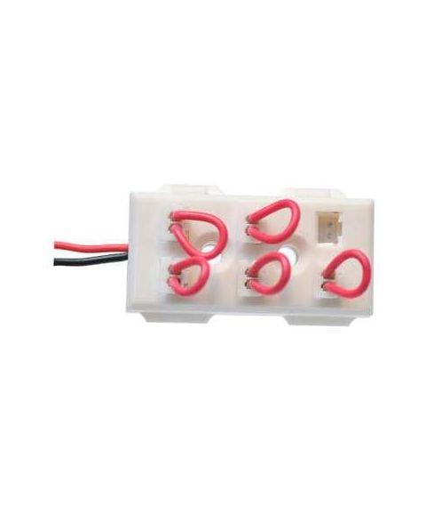 6-veis seriekoblingsboks, LED, JST L823