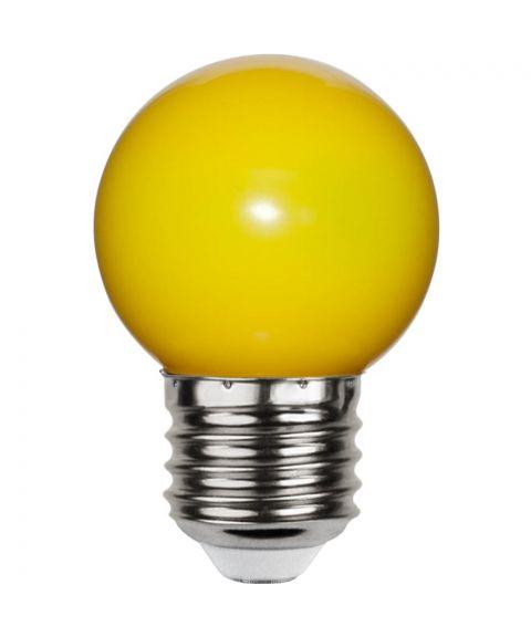 Decoration E27 Krone 0,8W LED 16lm, Gul