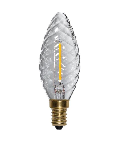 Decoration E14 Mignon Twisted 2100K Soft Glow 0,8W LED 70lm