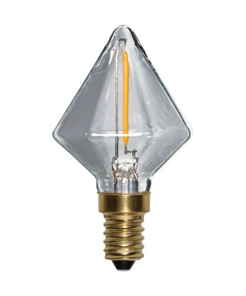 Decoration E14 Diamant Soft Glow 2200K 0,8W LED 45lm, Dimbar